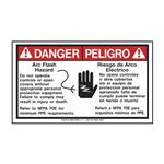 Danger Arc Flash Hazard Bilingual - PK/5 3.5 x 6