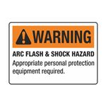ArcFlashDecals-WarningArcFlash/Shock Hazard RL/100-3.5x5