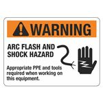 Arc Flash Decals and Signs - Warning Arc Flash And Shock Hazard - each 10 x 14