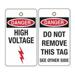 Danger High Voltage - 2 Sided