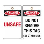 Danger Unsafe Tag