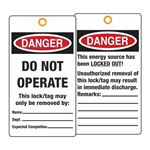 Lifeguard Tags - Do Not Energize 3 1/8 Inch x 5 5/8 Inch