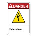 ANSI High Voltage Sign