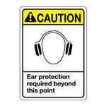 ANSI Ear Protection Required Beyond This Point