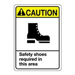 ANSI Safety Shoes Required In This Area Sign