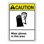 ANSI Wear Gloves In This Area Sign