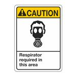 ANSI Respirator Required In This Area Sign