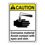 ANSI Corrosive Material  … tact with Eyes and Skin