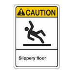 ANSI Slippery Floor Sign