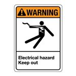 ANSI Electrical Hazard Keep Out Sign