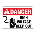 ANSI DANGER High Voltage Keep Out