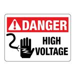 ANSI DANGER High Voltage