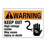 ANSI Keep Out High Voltage Inside May Cause Injury or Death