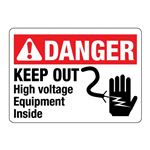 ANSI Keep Out High Voltage Equipment Inside