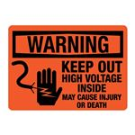 ANSI Keep Out High Voltage Inside May Cause Injury/Death-OR