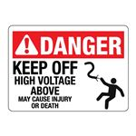 Keep Off High Voltage Above May Cause Injury or Death