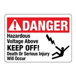 ANSI Hazardous Voltage Above KEEP OFF!