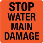 Interchangeable A Frame Sign - STOP WATER MAIN DAMAGE