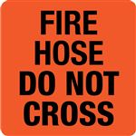 Interchangeable A Frame Sign - FIRE HOSE DO NOT CROSS