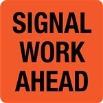 Interchangeable A Frame Sign - SIGNAL WORK AHEAD