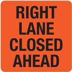 Interchangeable A Frame Sign - RIGHT LANE CLOSED