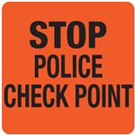 Interchangeable A Frame Sign - STOP POLICE CHECK POINT