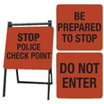 A-Frame Sign Kit - STOP POLICE, BE PREPARED, DO NOT ENTER