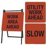 A-Frame Sign Kit -Work Area Ahead, Utility Work Ahead, Slow