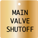 Engraved Valve Tags - Custom - Brass Square 1.5 x 1.5