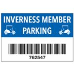 Custom Barcoded Symbology 128 Parking Permits 2x3