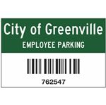 Custom Barcoded Symbology 39 Parking Permits 2x3