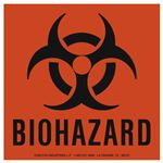 Vinyl Label Biohazard 6 x 6
