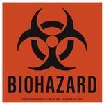 Biohazard Warning Labels - Vinyl Labels - 6 x 6