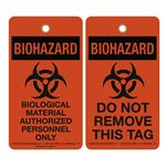 Biohazard Biological Material Authorized Personnel Only 3-1/8 x 5-5/8