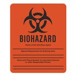Biohazard - Dual Purpose Write-On Sign for Lab Entry