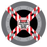 Man-Way Cross Barrier: Confined Space Do Not Enter - 11.5in. x 11.5in. Sign W/ 6in. x 42in. Crossbars