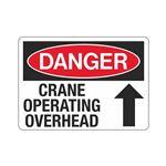 Danger Crane Operating Overhead Sign