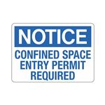 Confined Space Entry Permit Required Sign