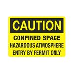 Confined Space Hazardous … try By Permit Only Sign