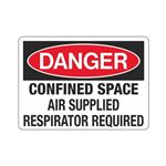 Confined Space Air Suppl … espirator Required Sign