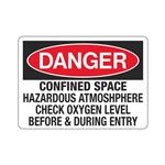 Confined Space Hazardous … fore and During Exit Sign