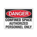 Confined Space Authorized Personnel Only Sign