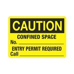 Confine Space No. Entry Permit Required Call Sign