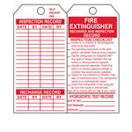 Dual Sided Fire Extinguisher Tag - Cardstock 2-7/8 x 5-3/4