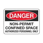 Non-Permit Confined Space - Vinyl Decal 3-1/2 x 5