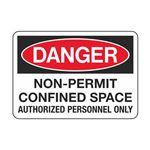Danger - Non-Permit Confined Space 3 1/2 x 5