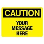 Custom Worded Industrial Decals - Caution - 3.5 x 5
