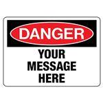 Custom Worded Industrial Decals - Danger - 5 x 7