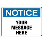 Custom Worded Industrial Decals - Notice - 1.75 x 2.5