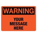Custom Worded Industrial Decals - Warning - 3.5 x 5